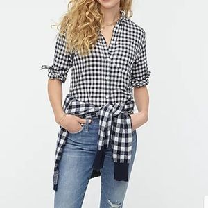 J. Crew Gingham Perfect Shirt